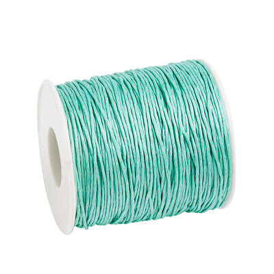 Waxed Cotton Thread Cords Aquamarine 1mm 84m/roll Jewelry Making String Thread