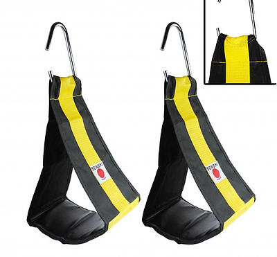 UK Warrior Double Strength Protection Ab Slings Abdominal Slings  Ab Crunch