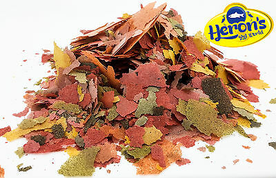 HERONS High Protein Multi Flakes with Krill TROPICAL FISH FOOD Breeding Growth