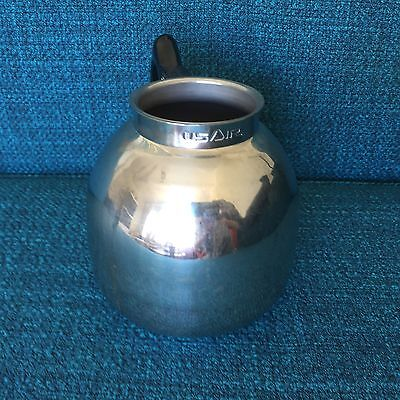 USAir Airline Memorabilia Inflight Coffee Pot - Stainless Steel Silver 1980s