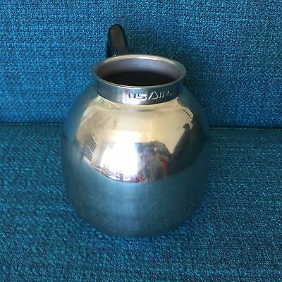 USAir Airlines Inflight Coffee Pot - Stainless Steel 1980s