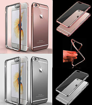Fit For Apple iPhone 6s/6Plus Shockproof Silicon Gel Case Crystal Clear Cover