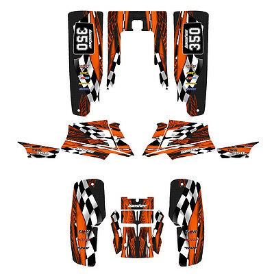 Yamaha Banshee 350 graphics full coverage custom kit #3500 Orange