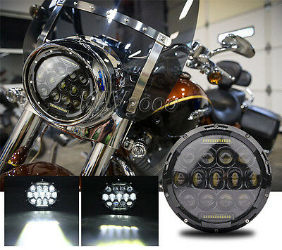 """7"""" LED Motorcycle Projector Daymaker Headlight Bulb For Harley Street Glide FLHX"""
