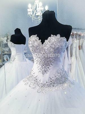 New White/Ivory Lace Wedding Dress Bridal Gown Custom Size2 4 6 8 10 12 14 16 18