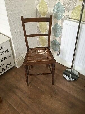 rattan (cane) dining chair. solid oak. ladder back,shabbychic Project Prop