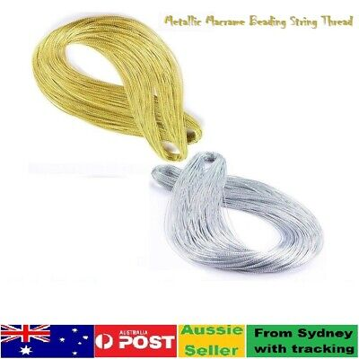 10-50m Metallic Macrame Beading Jewelry string Thread Braided Gift Cord 05mm Dia