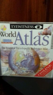 World Atlas The Essential Encyclopedic Reference Atlas PC CD ROM - FREE POST