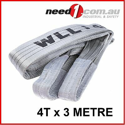 LIFT SAFE 4T x 3M Flat Lifting Sling 100% Polyester c/w Test Certificate