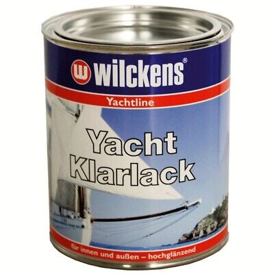 Wilckens Yacht Klarlack 750 ml, Holz Bootslack Yachtlack Bootsfarbe Parkettlack