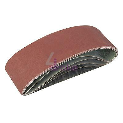 5 Assorted Grade 75mm x 533mm 40 80 120 Grit Electric Belt Sander Sanding Belts