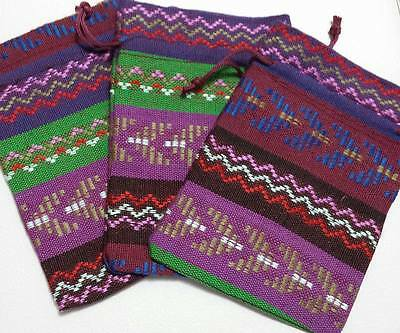 1 x Colourful Tribal Design Drawstring Bag Pouch