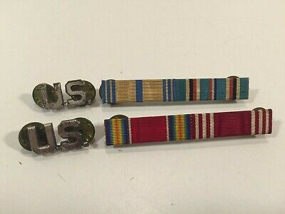 Vintage U.S. US Military Bars And Pins 2 Of Each