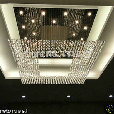 crystal chandelier LED light lamp hang Ceiling Curtain Pendant Fixture hall s5