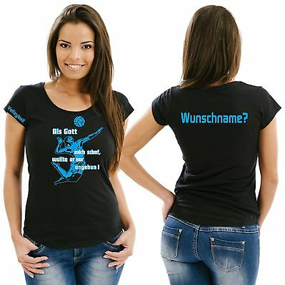 Volleyball Damenshirt Girlieshirt Damen T-Shirt Verein Turnier Wettkampf Ball 10