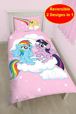 New My Little Pony Equestria Single Duvet Quilt Cover Set Girls Pink Horses Kids