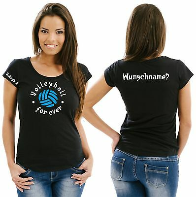 Volleyball Damenshirt Girlieshirt Damen T-Shirt Verein Turnier Beach Netz 21