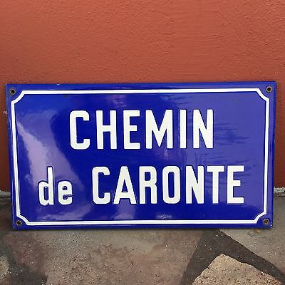 Old French Street Enameled Sign Plaque - vintage caronte 2