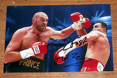 Original Hand Signed Tyson Fury Photo - 12X8 Inch Boxing
