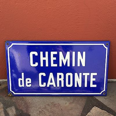 Old French Street Enameled Sign Plaque - vintage caronte 3