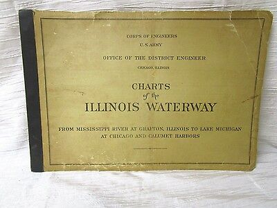 "1951 U.S. Army Corps of Engineers ""ILLINOIS WATERWAY NAVIGATION CHARTS"""