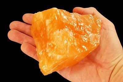 "Orange Calcite 4""-5"" 2 Lb Large Rock Mineral Specimen Healing Crystal Stone"