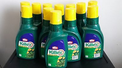 Qty 12.  Ortho Killex Lawn Weed Control Concentrate 1L Herbicide Killer Solution