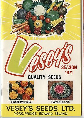Old 1971 Vesey's Quality Seeds Prince Edward Island Catalog