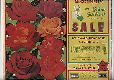 Old 1973 McConnell's Seeds Plants Spring Catalog Port Burwell Ontario