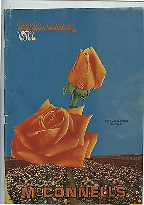 Old 1972 McConnell's Seeds Plants Garden Catalog Port Burwell Ontario