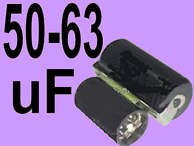 50 - 63 uf mfd microfarad 220/275v electric motor start capacitor