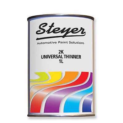 1L 2K Universal Thinner For Solvent Car Paint 2 Pack Lacquer Primer Thinners SLW