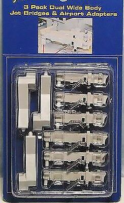 Gemini Jets AIRBRIDGE SET 2 GJARBRDG2 3-Pack Dual Wide Body Bridges, 1/400. New