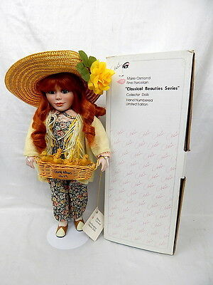 Marie Osmond Porcelain Doll Hillary 'Good Homes Only' Red Head Doll  27330