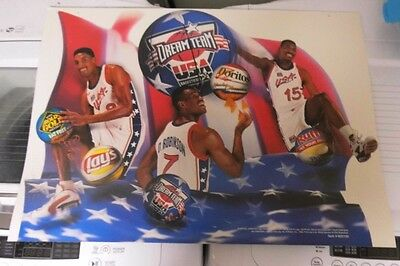 Ultra RARE 1996 Olympic Basketball Dream Team Frito Lay Promotion Banner 2-sided