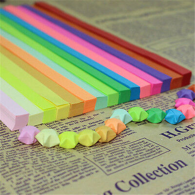 Hot Sale 90pcs/lot 11 Color Paper Craft Origami Lucky Star Paper Craft DIY Gift