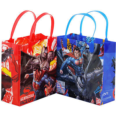 6 Pcs Batman Superman Authentic Licensed Small Party Favor Goodie Gift Bags
