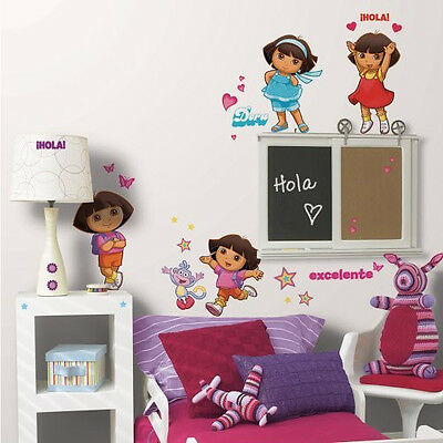 Nickelodeon ~ Dora the Explorer ~ 52 Wall Decals ~ Peel & Place Stickers ~ NIP