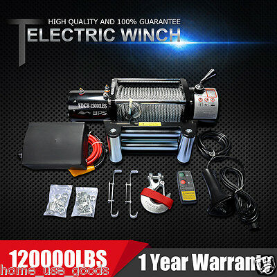 12000lb Recovery Electric Winch 12V With Wireless Remote Control ATV Car Truck