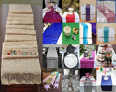 Wholesale Luxury Many Color Sequin Table Runners for Wedding Table,Choose Sizes