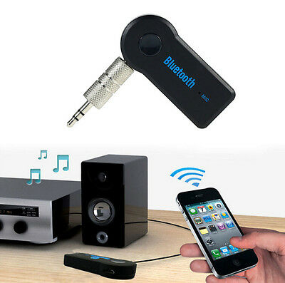 AUX Audio Mic Adapter Wireless Bluetooth Receiver Stereo Music 3.5mm Car