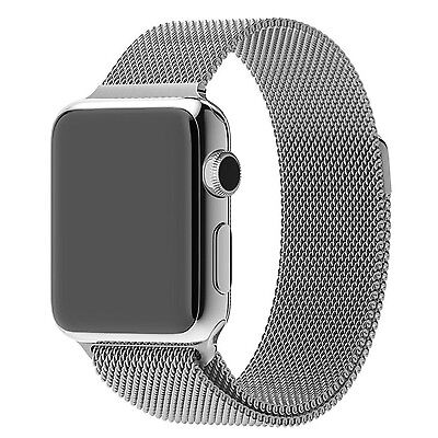 Milanese Stainless Steel Magnetic Loop Watch Band Strap for Apple Watch 42MM