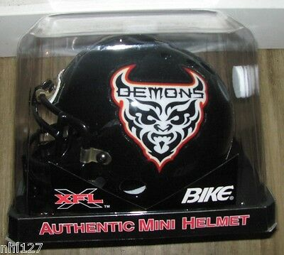XFL San Francisco Demons AUTHENTIC BIKE MINI FOOTBALL HELMET WWE WWF