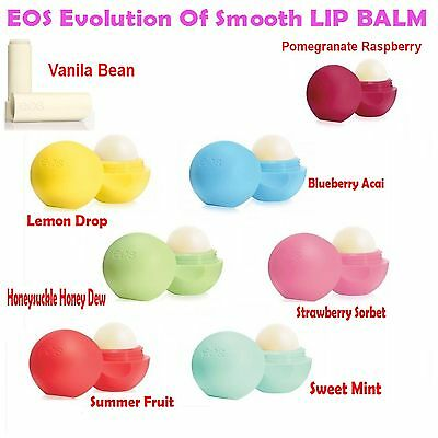 EOS Lip Balm 100% Natural and Organic Original Product Evolution of Smooth