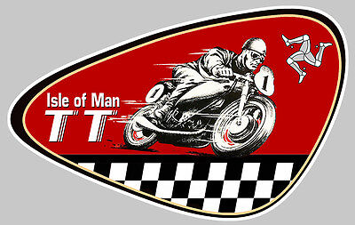 tt isle of man ile de man biker 10cm autocollant sticker moto gp ia070 eur 3 90 picclick fr. Black Bedroom Furniture Sets. Home Design Ideas
