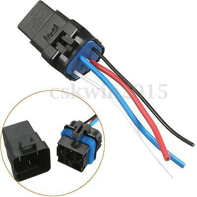 40A 4pin Car Waterproof Automotive Relay Socket Holder w/ Wires Harnesse 12V
