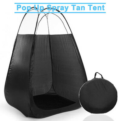Pop Up Spray Fake Tanning Tent For Skin Tanning Booth Clear Roof Carry Bag