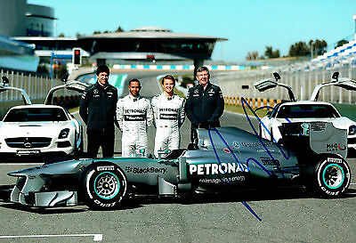 Ross BRAWN Signed Autograph 12x8 Photo C AFTAL COA Mercedes Petronas Formula 1
