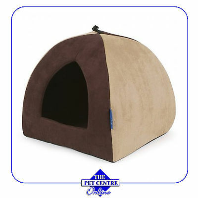 Ancol Sleepy Pattes Timberwolf Pyramide Lit Pour Chats Et Petits Chiens - Lits