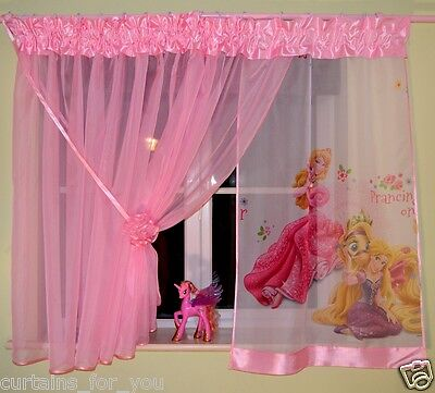 Lovely Girls Curtains Beautiful Cute Pink Disney Frozen Princess Minnie For You